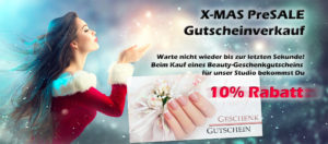 10% Rabatt auf Weihnachtsgutschein für Nagelstudio